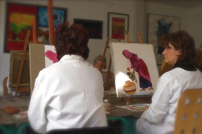 cour de peinture