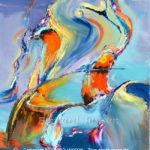 Peinture abstraite au couteau