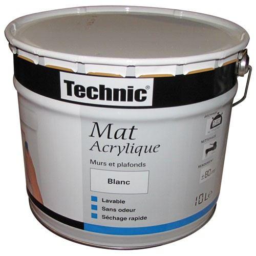peinture acrylique mat