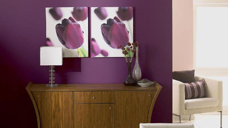 peinture aubergine
