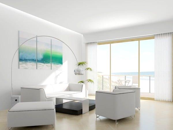 peinture blanche mur
