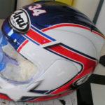 Peinture casque moto