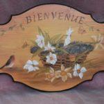 Peinture décorative sur bois