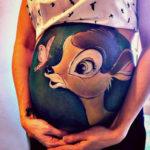 Peinture femme enceinte