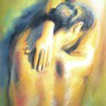Peinture femme nu