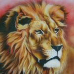 Peinture lion