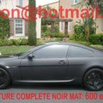 Peinture noir mat voiture