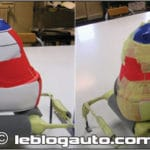 Peinture pour casque moto
