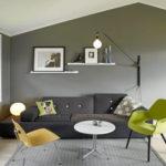 Peinture salon gris