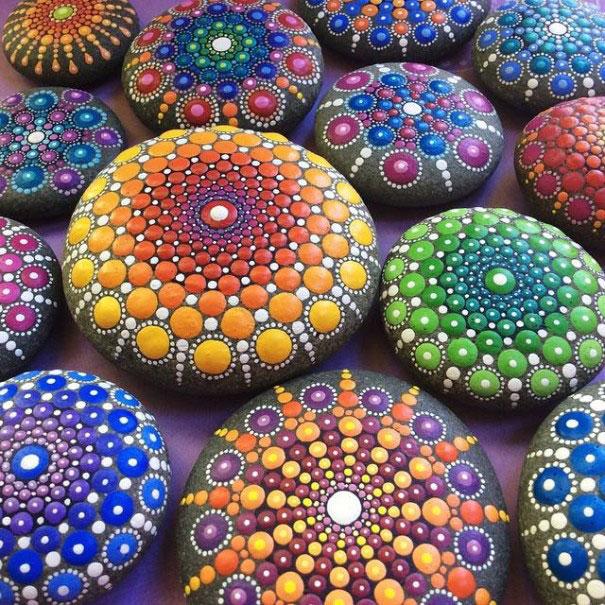 peinture sur pierre